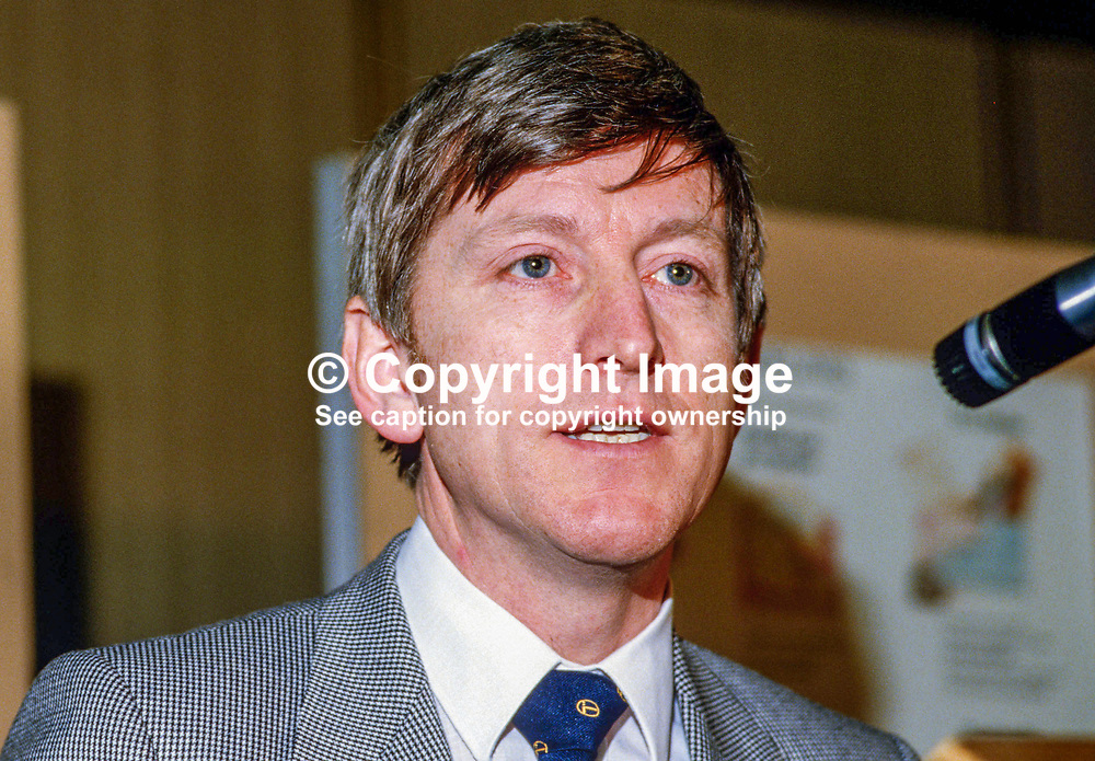 Alfie Kane, chief executive, BT, British Telecom, N Ireland, 19850035AK2.<br /> <br /> Copyright Image from Victor Patterson, Belfast, UK<br /> <br /> t: +44 28 9066 1296 (from Rep of Ireland 048 9066 1296)<br /> m: +44 7802 353836<br /> e: victorpattersonbelfast@gmail.com<br /> <br /> www.images4media.com<br /> <br /> Please see my full Terms and Conditions of Use at https://www.images4media.com/p/terms-conditions - it is IMPORTANT that you familiarise yourself with them.<br /> <br /> Images used online incur an additional cost. This cost should be agreed in writing in advance. Online images must be visibly watermarked i.e. © Victor Patterson or that of the named photographer within the body of the image. The original metadata must not be deleted from images used online.<br /> <br /> This image is only available for the use of the download recipient i.e. television station, newspaper, magazine, book publisher, etc, and must not be passed on to a third party. It is also downloaded on condition that each and every usage is notified within 7 days to victorpattersonbelfast@gmail.com.<br /> <br /> The right of Victor Patterson (or the named photographer) to be identified as the author is asserted in accordance with The Copyright Designs And Patents Act (1988). All moral rights are asserted.