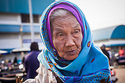 25 OCTOBER 2012 - PATTANI, PATTANI, THAILAND: A woman in the market in Pattani, Thailand.      PHOTO BY JACK KURTZ