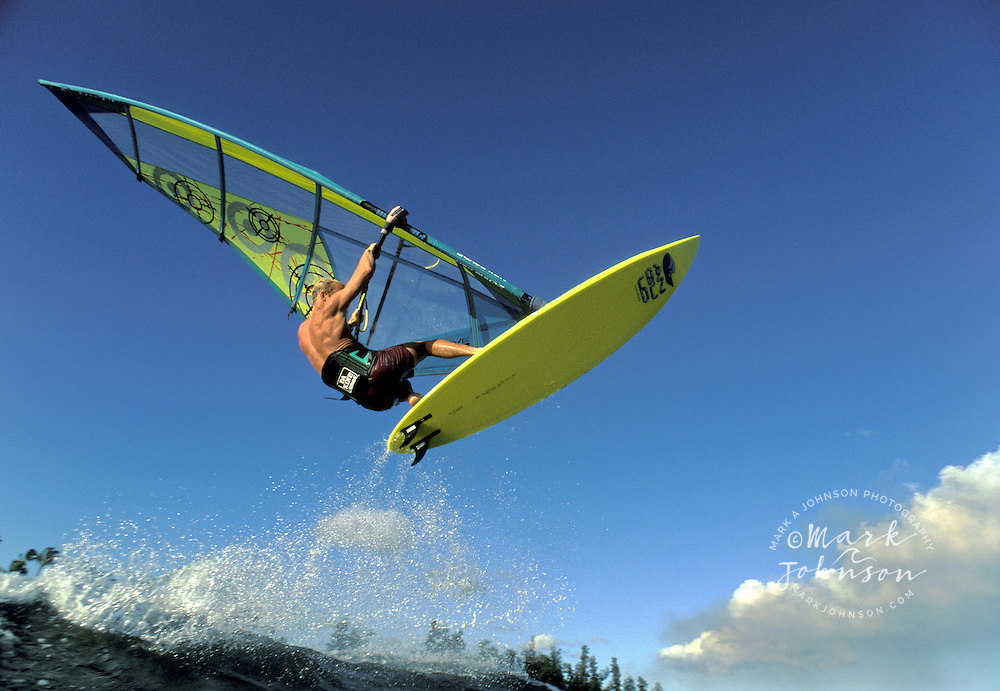 Windsurfing action in Hawaii<br /> ****Model Release available
