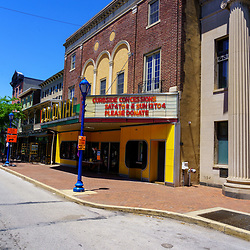 Phoenixville, PA, USA - June 14, 2020: The Colonial Theatre was built in 1903. In 1958, the classic science fiction movie, The Blob, starring Steve McQueen, was filmed here.