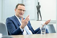 05 MAY 2021, BERLIN/GERMANY:<br /> Jens Spahn, CDU, Bundesgesundheitsminister, wahrend einem Interview, in seinem Buero, Bundesministerium fur Gesundheit<br /> IMAGE: 202105005-01-030
