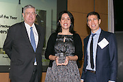 Tim Zagat, Zagat Publications (L), Jennifer Falk, Union Square Partnership (M) and Don Winter, Encompass Media (R). Celebrating the business leaders in New York City, who have built outstanding businesses - contributing to the economy and community as well. The MCC Business Awards Breakfast is the Manhattan Chamber's premiere event adn was attended by over 250 entrepreneurs, business owners, executives and legislative leaders in New York City. (Photo: www.JeffreyHolmes.com)