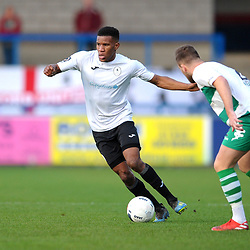 TELFORD COPYRIGHT MIKE SHERIDAN Riccardo Calder of Telford during the Vanarama Conference North fixture between AFC Telford and Farsley at the New Bucks head Stadium on Saturday, December 7, 2019.<br /> <br /> Picture credit: Mike Sheridan/Ultrapress<br /> <br /> MS201920-033
