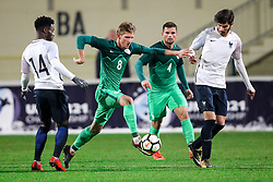 Matic Vrbanec of Slovenia during football match between Slovenia and France in Qualifying round for European Under-21 Championship 2019, on November 13, 2017 in Sportni park, Domzale, Slovenia. Photo by Morgan Kristan / Sportida