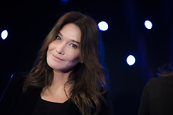 French-Italian singer Carla Bruni-Sarkozy poses with her husband former French President Nicolas Sarkozy before the inauguration of Bruni's wax sculpture on December 17, 2018 at the Musee Grevin wax museum in Paris. Photo by Eliot Blondet/ABACAPRESS.COM