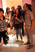 POPPY HADIMAN; Ay Tjoe Christine: Angki Purbandono, Indonesian Eye Contemporary Art Exhibition Reception, Saatchi Gallery. London. 9 September 2011. <br /> <br />  , -DO NOT ARCHIVE-© Copyright Photograph by Dafydd Jones. 248 Clapham Rd. London SW9 0PZ. Tel 0207 820 0771. www.dafjones.com.