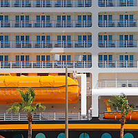Disney Fantasy Cruiseship in port in Fort Lauderdale