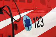 Israeli Air force helicopter, Agusta Bell 206C-1 Jet Ranger