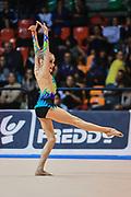Giulia Bricchi atleta della società Polimnia Ritmica Romana durante la seconda prova del Campionato Italiano di Ginnastica Ritmica.<br /> La gara si è svolta a Desio il 31 ottobre 2015.