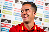 Lucas Vazquez during the opening of the corner of the Spanish team in its new Adidas Store Gran Vía in Madrid. June 05 2016. (ALTERPHOTOS/Borja B.Hojas)