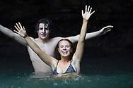 Mimmi Widstrand and Oskar Sunding swim in the water, Maui, Hawaii.
