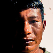 Antonio, Peruvian. He has been living for the past 13 years in this indigenous community just outside Tabatinga, Amazonas, Brazil, together with many other Colombians and Peruvians who chose to live on the Brazilian side of the border