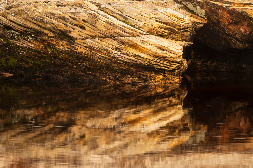 Reflection of Pictured Rock at Miner's Beach at Pictured Rocks National Lakeshore. Munsing, MI.