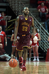 11 January 2014:  Jeff White during an NCAA  mens basketball game between the Ramblers of Loyola University and the Illinois State Redbirds  in Redbird Arena, Normal IL.  Redbirds win 59-50