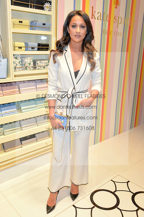 ROXIE NAFOUSI at the opening party of the new Kate Spade New York store at 182 Regent Street, London on 21st April 2016.