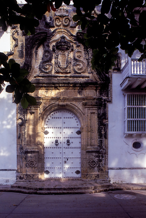 Impressive Doorway of the Palace of the Inquisition, Cartagena