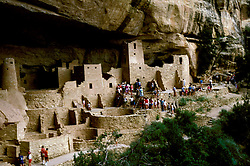 CO: Colorado Mesa Verde National Park, Cliff Palace  .Photo Copyright: Lee Foster, lee@fostertravel.com, www.fostertravel.com, (510) 549-2202.Image comesa203