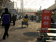 early morning at an open market place in Beijing China