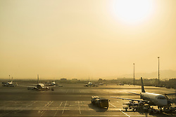 Airplanes at Muscat International Airport, Muscat, Oman