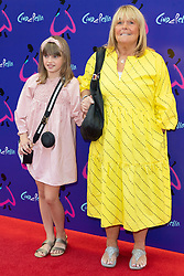© Licensed to London News Pictures. 25/08/2021. London, UK. LINDA ROBSON arrives for the gala performance of Andrew Lloyd Webber's Cinderella showing at the Gillian Theatre, Dury Lane. Photo credit: Ray Tang/LNP