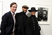 New York, NY-Jan. 11: (L-R) Peter Kundhardt, Executive Director, Gordon Parks Foundation, Music Producer/Recording Artist/Visual Artist Swizz Beatz and Recording Artist Alicia Keys attend the Gordon Parks: I AM YOU Opening Reception presented by the Gordon Parks Foundation  held at the Jack Shanmain Gallery on January 11, 2018 in New York City.  (Photo by Terrence Jennings/terrencejennings.com)