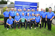 Limerick Golf Club Team with team captain Paddy Power holding the winners pennant and Club captain Brien Morris holding the trophy after the All Ireland Four Ball Interclub Final, Roe Park resort, Limavady, Derry, Northern Ireland. 15/09/2019.<br /> Picture Fran Caffrey / Golffile.ie<br /> <br /> All photo usage must carry mandatory copyright credit (© Golffile | Fran Caffrey)<br /> <br /> Team Details to Follow: