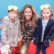 NLD/Amsterdam/20160117 - Premiere Woezel & Pip Op zoek naar de Sloddervos !, Danie Bles en kinderen Florian, Marlon