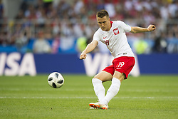 June 19, 2018 - Moscow - Piotr Zielinski of Poland in action the 2018 FIFA World Cup Group H match between Poland and Senegal at Spartak Stadium in Moscow, Russia on June 19, 2018  (Credit Image: © Andrew Surma/NurPhoto via ZUMA Press)