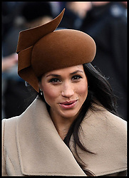 December 25, 2017 - Sandringham, United Kingdom - MEGHAN MARKLE joins HM Queen Elizabeth II at  St. Mary Magdalene Church on her Sandringham estate in Norfolk, for the Christmas Day service. (Credit Image: © Andrew Parsons/i-Images via ZUMA Press)