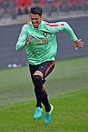 Jose Fonte during the Portugal training session at Wembley Stadium, London, England on 1 June 2016. Photo by Jon Bromley.