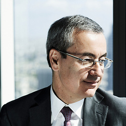 PARIS, LA DEFENSE. APRIL 12, 2011. Jean-Pierre Clamadieu, Rhodia Group's CEO, in his Paris La Defense office. (photo: Antoine Doyen)