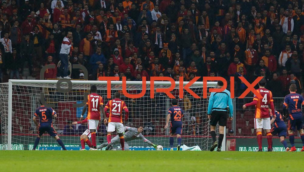 Istanbul Basaksehir's scores during their Turkish Super League soccer match Galatasaray between Istanbul Basaksehir at the AliSamiYen Spor Kompleksi TT Arena at Seyrantepe in Istanbul Turkey on Saturday, 14 March 2015. Photo by Aykut AKICI/TURKPIX