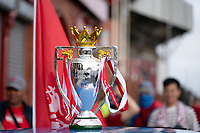 Football - 2019 / 2020 Premier League - Liverpool vs Chelsea<br /> A replica Premier League Trophy is on display outside Anfield<br /> <br /> Credit: COLORSPORT/TERRY DONNELLY