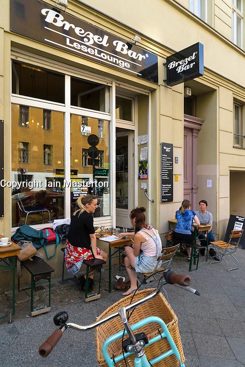 Small Brezel Bar in Kreuzberg Berlin Germany
