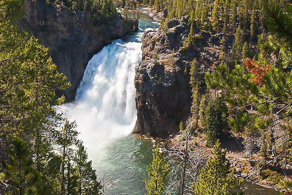The 109 ft. Upper Falls on the Yellowstone River. Yellowstone National Park, Wyoming, USA.