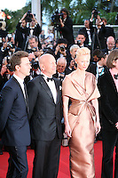 Actors Edward Norton, Bruce Willis and Actress Tilda Swinton at the gala screening of the film Moonrise Kingdom at the Cannes Film Festival. Wednesday 16th May 2012, the red carpet at Palais Des Festivals in Cannes, France.