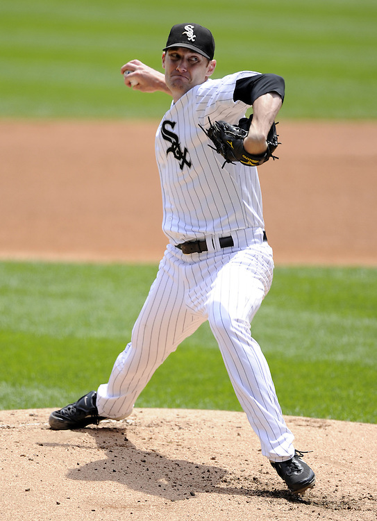 CHICAGO - JUNE 12:  Phil Humber #41 of the Chicago White Sox pitches against the Oakland Athletics on June 12, 2011 at U.S. Cellular Field in Chicago, Illinois.  The White Sox defeated the Athletics 5-4.  (Photo by Ron Vesely)   Subject:  Phil Humber