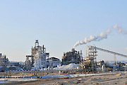 Israel, Aravah, The Mishor Rotem Industrial Park. The Rotem Amfert Negev LTD phosphate plant