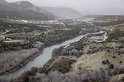 """CREDIT: Steven St. John for The Wall Street Journal<br /> """"ANIMAS""""<br /> <br /> Life along the Animas River just south of Durango Colorado on Tuesday, March 22, 2016. Six months after an EPA crew triggered a toxic spill at a Colorado gold mine, state and local officials downstream are scrambling to prepare for a new emergency as spring snow melt threatens to stir up lead and other contaminants in a river used for drinking water."""