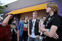 Members of Disruption hang out after their set. In a well-attended, all-ages music event organized by Salinas' own In Your Face Productions, five area metal bands played their hearts out on Saturday night at the Rock Boxing Gym on East Alisal Street. I