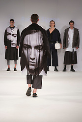 © Licensed to London News Pictures. 01/06/2015. London, UK. Collection by Rachel Siggee. Fashion show of Nottingham Trent University at Graduate Fashion Week 2015. Graduate Fashion Week takes place from 30 May to 2 June 2015 at the Old Truman Brewery, Brick Lane. Photo credit : Bettina Strenske/LNP