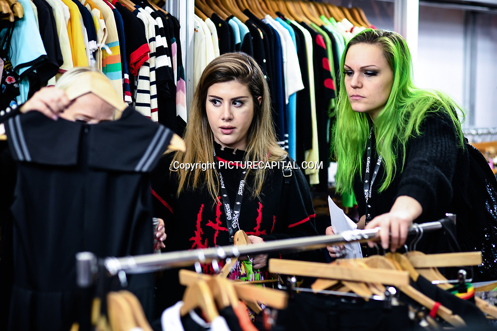 London, UK. 16th February, 2020. Hundreds of stalls at the LondonEdge 2020   Authentic Lifestyle Fashion Trade Shows and exhibition and Fashion show at Business Design Centre.
