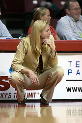 06 December 2006: Ball State coach Tracy Roller. In a non-conference game, the Cardinals of Ball State visited the Redbirds home at Redbird Arena in Normal Illinois on the campus of Illinois State University.<br />