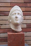 Female bust, Museo Nacional de Arte Romano, national museum of Roman art, Merida, Extremadura, Spain 2nd century AD