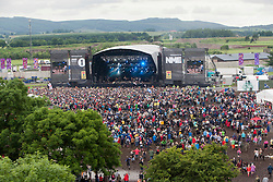 View from the ferris wheel, showing the Radio1/NME stage, Sunday at T in the Park 2012, held at Balado, in Fife, Scotland.