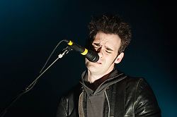 © Licensed to London News Pictures. 27/03/2013. London, UK.   Robert Been of Black Rebel Motorcycle Club performing live at Brixton Academy. Black Rebel Motorcycle Club (BRMC) is an American rock band from San Francisco, California, now based in Los Angeles.  BRMC (as they are also known) is comprised of Peter Hayes (guitar/vocals), Robert Levon Been (bass/vocals) and Leah Shapiro (drums).  Photo credit : Richard Isaac/LNP