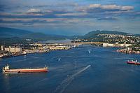 Burrard Inlet (Vancouver Harbour) & Second Narrows Bridge