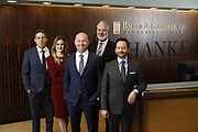 SHOT 1/8/19 12:13:09 PM - Bachus & Schanker LLC lawyers James Olsen, Maaren Johnson, J. Kyle Bachus, Darin Schanker and Andrew Quisenberry in their downtown Denver, Co. offices. The law firm specializes in car accidents, personal injury cases, consumer rights, class action suits and much more. (Photo by Marc Piscotty / © 2018)
