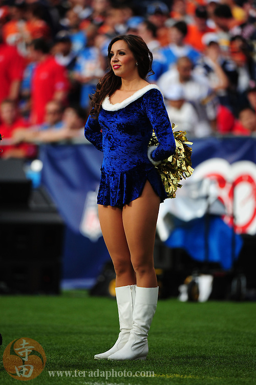 December 20, 2009; San Diego, CA, USA; San Diego Charger Girls cheerleader Nicole Miller (Nicole McWorter) performs during the second quarter against the Cincinnati Bengals at Qualcomm Stadium. The Chargers defeated the Bengals 27-24. Mandatory Credit: Kyle Terada-Terada Photo
