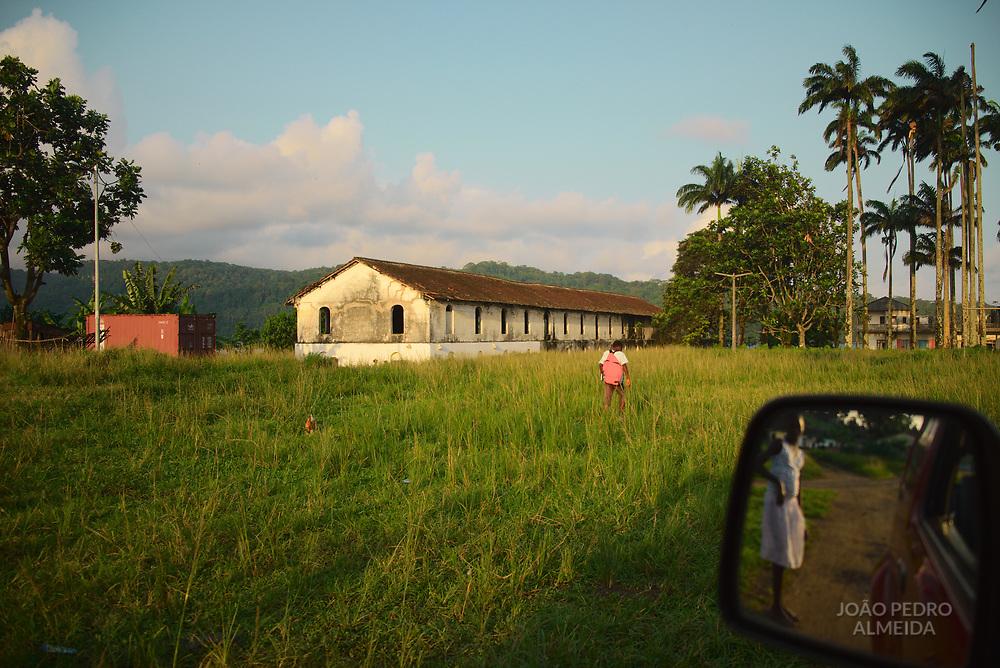 The village of Porto Alegre, in the southern tip of São Tomé.